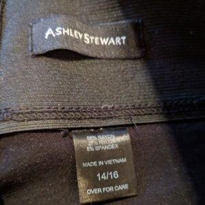 bf3d92c8471 Ashley Stewart Pants - Ashley Stewart leggings with faux leather stripe